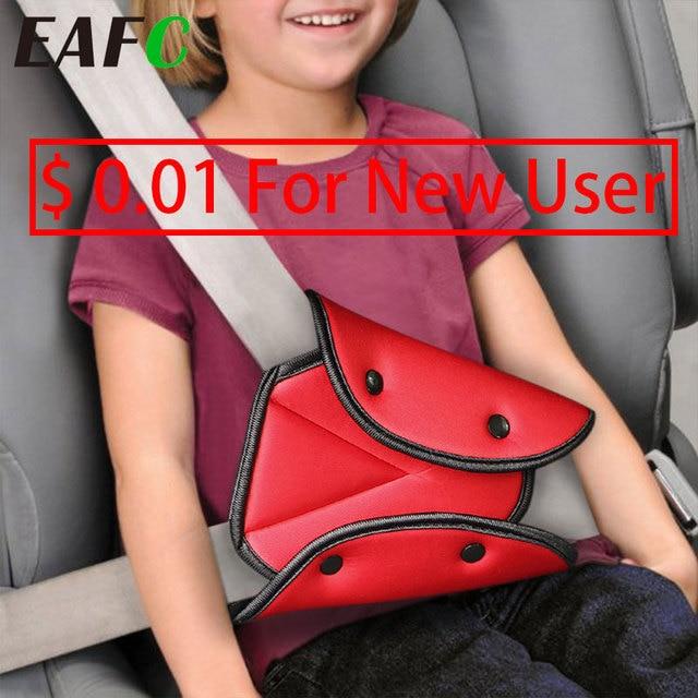 العالمي سيارة آمنة مقعد حزام غطاء لينة قابل للتعديل مثلث سلامة مقعد حزام وسادة مقاطع حماية للطفل الطفل أحزمة