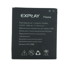 2pcs NEW Original 2000mAh Flame battery for EXPLAY Flame High Quality Battery+Tracking Number explay explay для смартфона explay craft