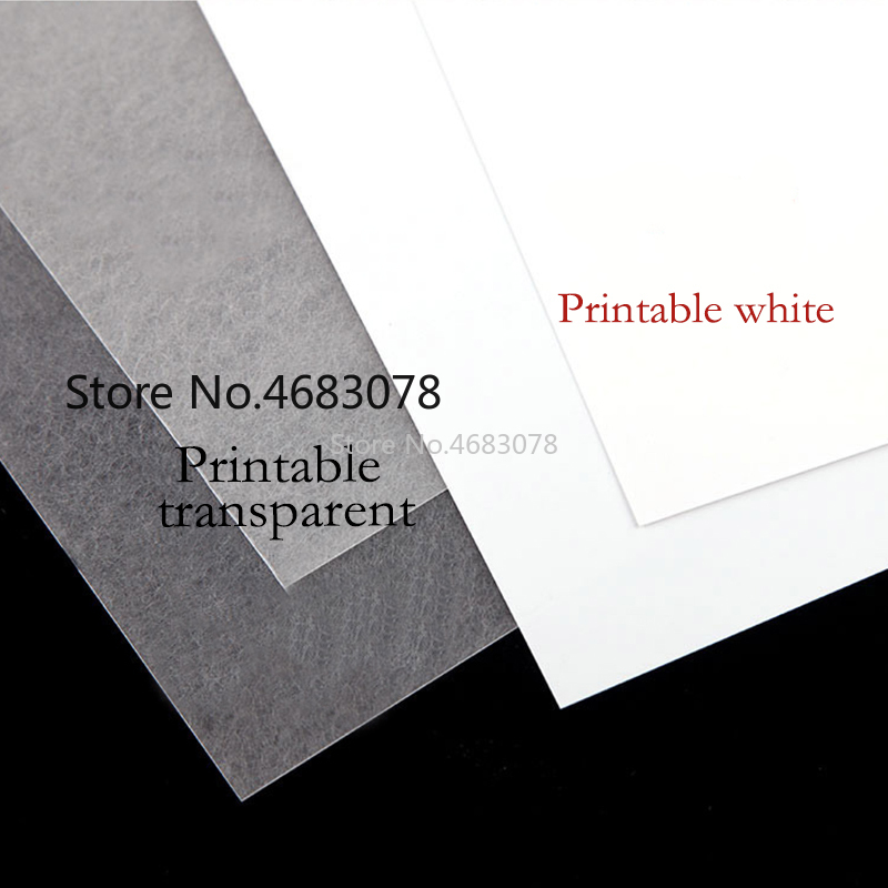 10Pcs A4 Inkjet Printing Shrinks Film Plastic Sheet DIY Creative Decorating Printable Shrink Films 0.3mm Thickness Two Sided Pri