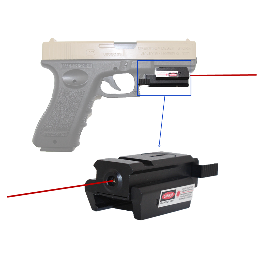 Tactical glock Red Dot Laser Sight for glock 17 19 22 23 31 32 Pistol Airsoft Gun Sight laser Scope 20mm rail laser for hunting-0