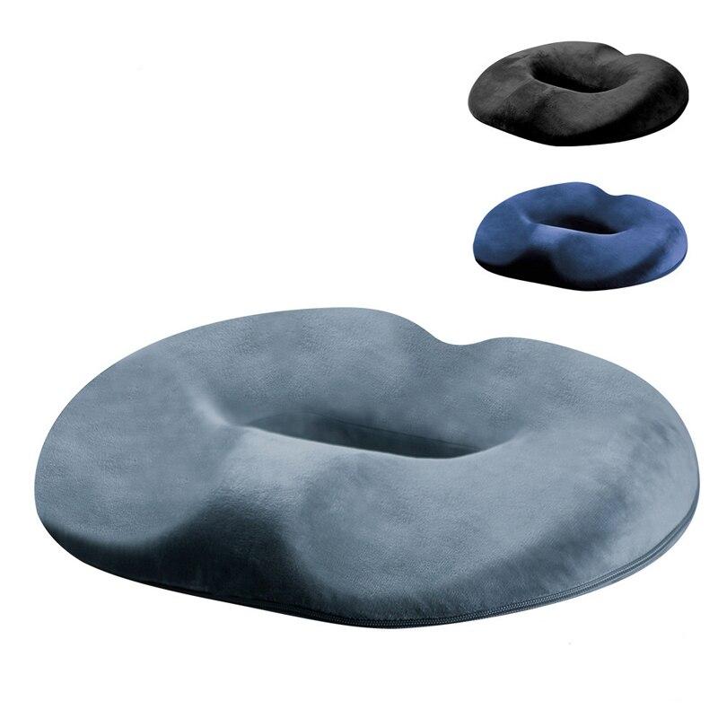 Memory Foam Seat Cushion Lumbar Back Support Orthopedic Car Office Pain Relief Hip Pads Anti-Decubitus Maternity Mat 45*35*7cm