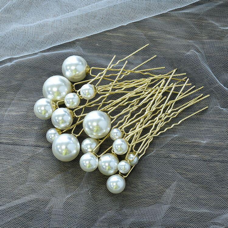 18 шт./компл. милые женские маленькие круглые жемчужные заколки для волос женские шпильки для свадебной прически винтажные Свадебные украше...