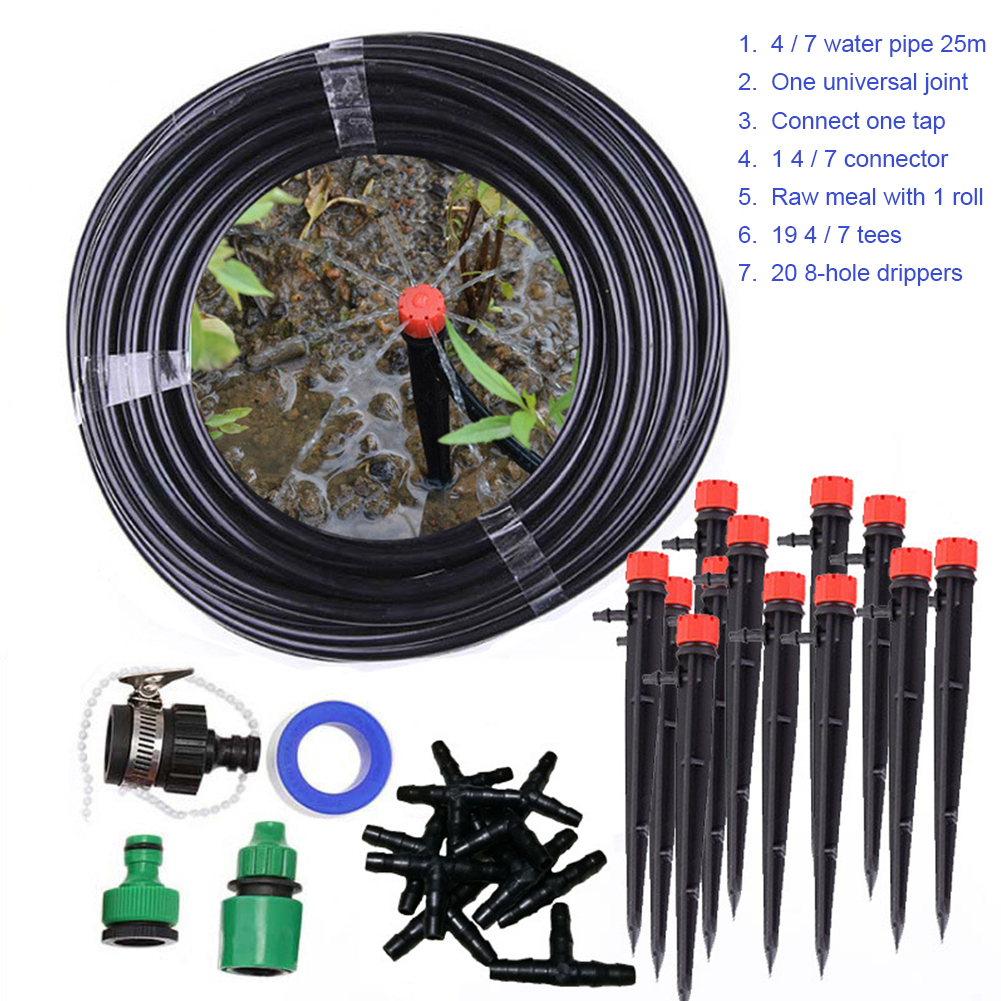 25m Wasser Schlauch Micro Drip Bewässerung System Einstellbar Tropf Garten Bewässerung Systeme DIY Automatische Bewässerung Kits