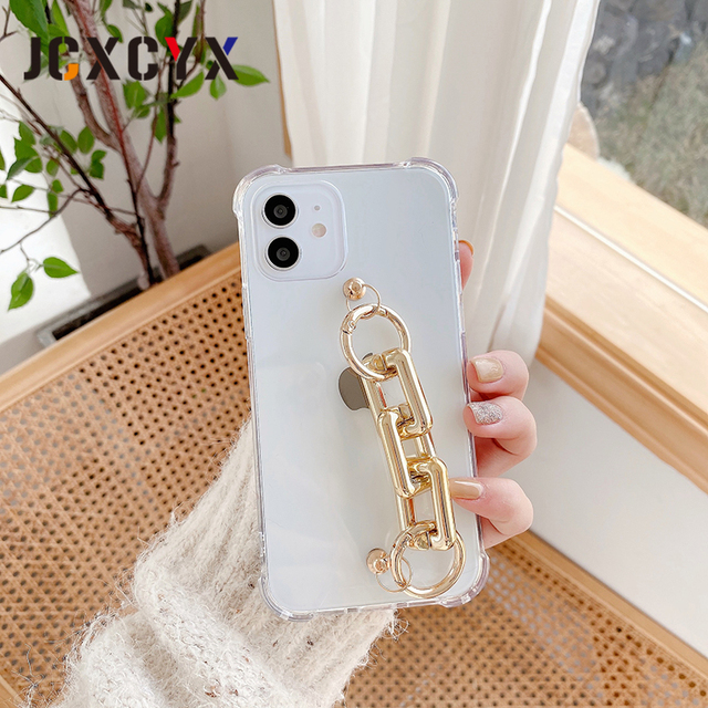 Hot Japan plating Acrylic Bracelet chain soft case for iphone 12 Pro Max MiNi 11 Pro Max XR X XS Max 7 8 plus 6S SE 2020 cover 3