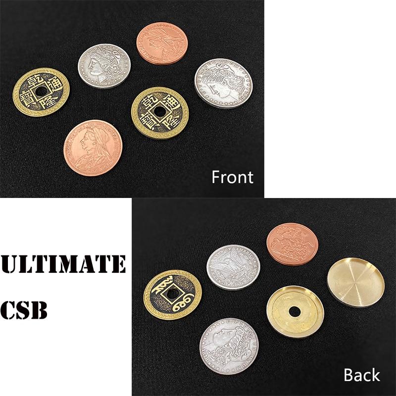Ultimate CSB 2.0 Magic Tricks Coin Appear Vanish Transform Magia Magician Close Up Illusions Gimmick Props Mentalism Fun Easy