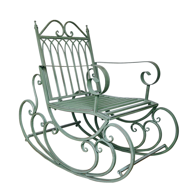 European Style Garden Rocking Chair Outdoor Chair Adult Balcony Reclining Chair Backrest Lazy Chair Outdoor Furniture
