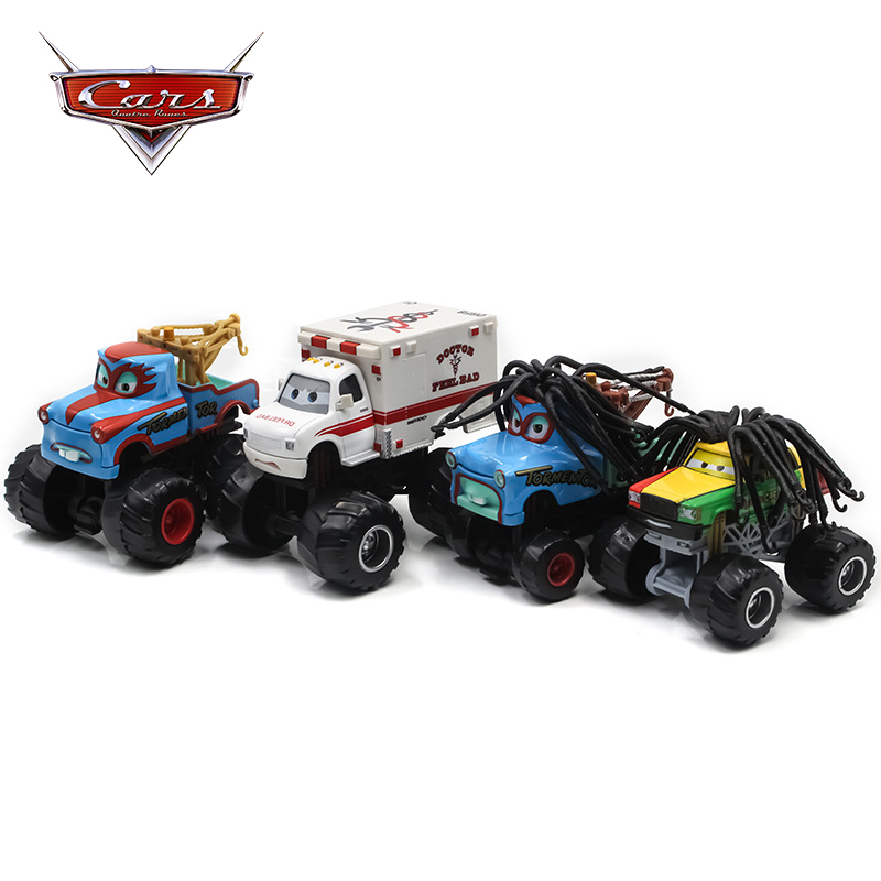 Disney Pixar Cars 1:55 Frightening Rasta Carian McMean Tormentor Monster Mater Diecast Toy Car Truck Vehicles Kids Toys Gifts image