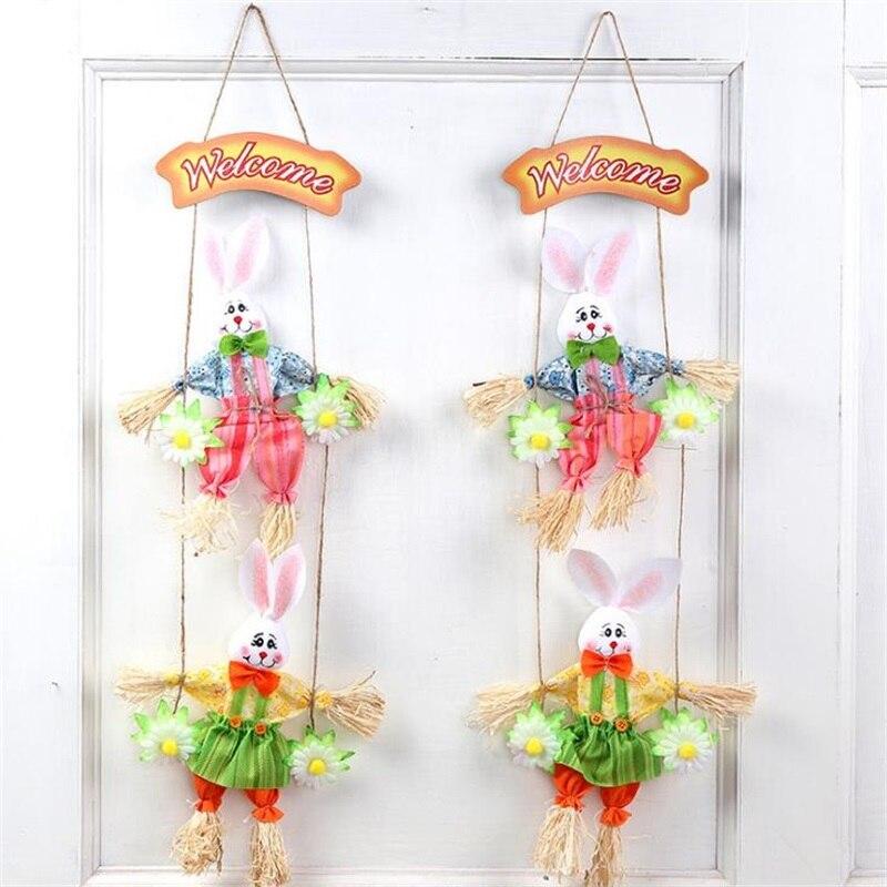 Easter Rabbits Bunny Pendant Scarecrow Kindergarten Handcraft Animal Children Handmade Creativity Birthday Gift Holiday Gifts
