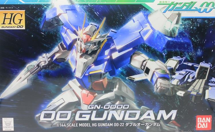 Bandai 55746 HG 1/144 00 GN-0000 00 Gundam 00 Mobile Suit Assemble Model Kits Anime Action Figures Toys For Children Gift