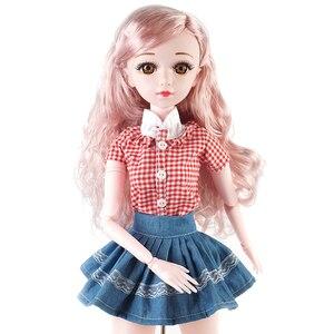 Реалистичные модные куклы для девочек, 60 см, большие оригинальные куклы ручной работы Bjd 1/3, полный комплект, 20 шарнирных кукол для девочек, и...
