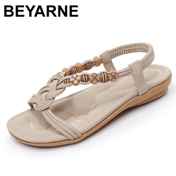BEYARNE 2020 Summer Women Sandals,Shoes Woman Vintage Ladies Flat Gladiator Sandals Shoes Platforms zapatos mujer - discount item  49% OFF Women's Shoes