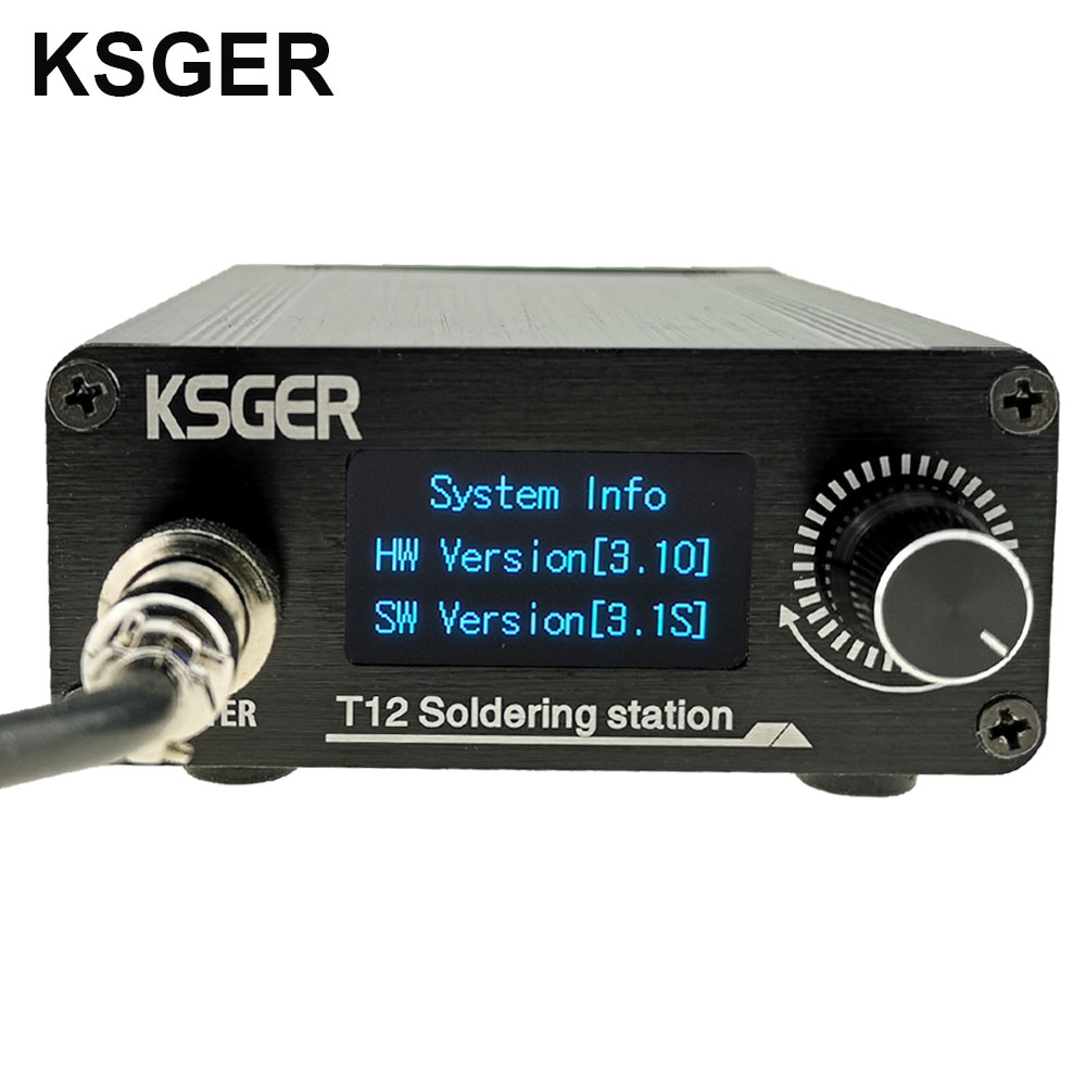 KSGER STM32 V3.1S T12 Soldering Station OLED DIY Aluminum Alloy FX9501 Handle Electric Tools Holder Auto sleep T12 Iron Tips Electric Soldering Irons    - AliExpress