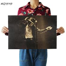 Star Michael Jackson singer poster home decoration painting character wall sticker room picture painting 51x36cm michael jackson michael jackson off the wall picture