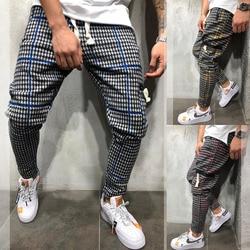 Модные Мужские Простые повседневные брюки-карандаш с высокой талией, прямые брюки для бега по щиколотку
