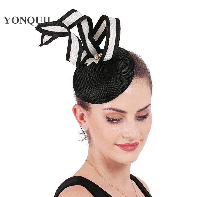 Bride wedding fashion hat elegant marry fascinators headwear women gorgeous fashion millinery caps with hair clip chic mesh hat