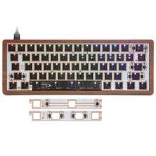 GK61 Набор Горячая замена механическая клавиатура часть 60% RGB клавиатура индивидуальный комплект проводной bluetooth двойной режим PCB Монтажная п...