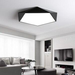 Image 2 - Arte geometrica creativa illuminazione a Led lampada da soffitto per soggiorno lampada studio corridoio balcone illuminazione a soffitto