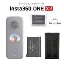 В наличии! Батарея Insta360 One X2, 1700 мАч, универсальная зарядка для 3 батарей, концентратор для Insta 360 One X 2, аксессуары для экшн-камеры