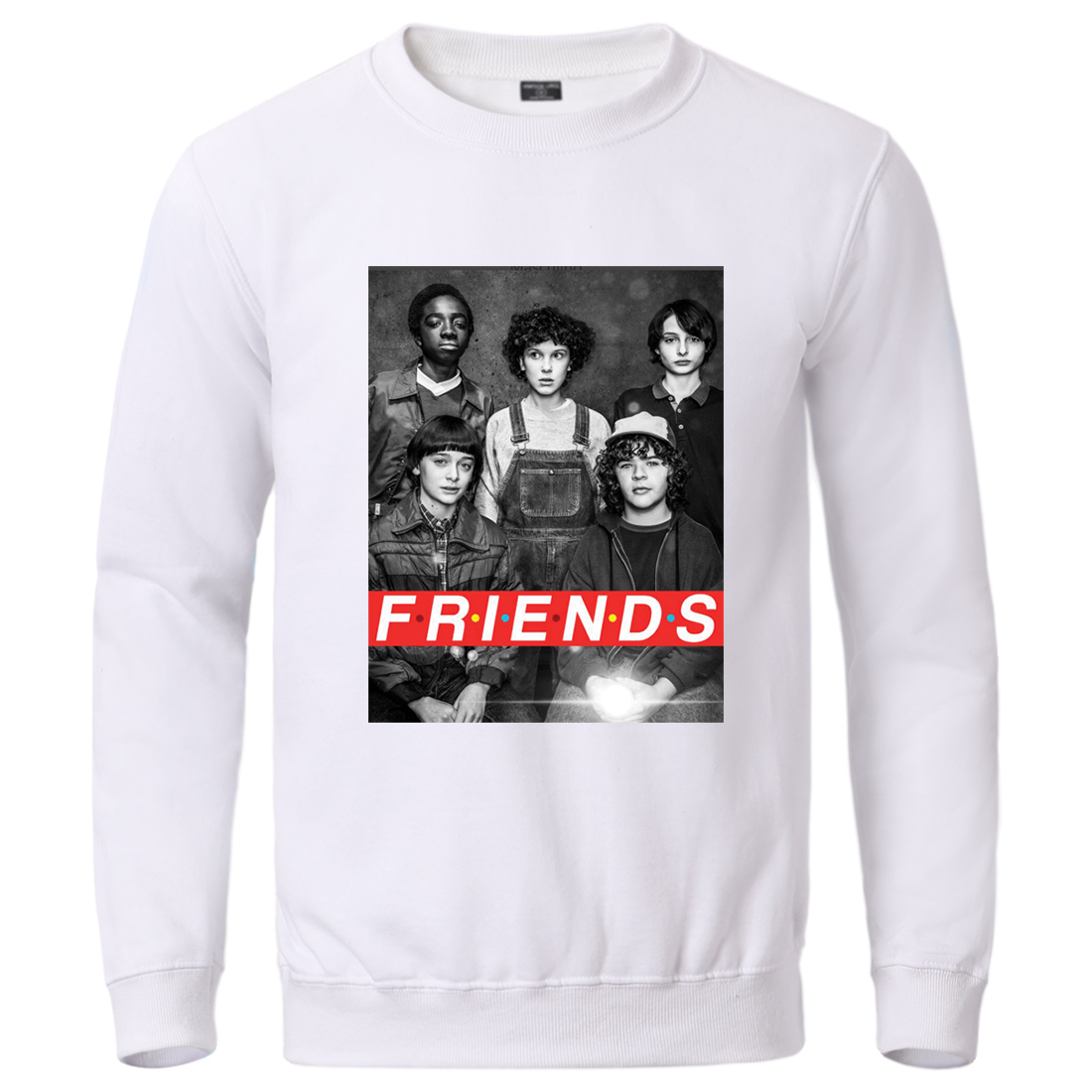 TV Show Stranger Things Upside Down Hoodies Sweatshirts Eleven Ghostbusters Two Worlds Pullover Male Crewneck Pullover Tracksuit