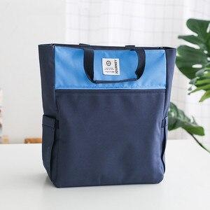 Image 4 - 2020 nova lona a4 arquivo pasta documento saco de livro organizador papel de mesa armazenamento bolsa para estudantes escola escritório papelaria