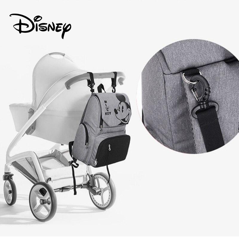 Disney voyage sac à dos bébé couches sacs USB momie maternité couche-culotte poussette sac isolation bébé fille soins landau voyage