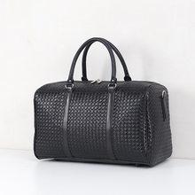 New Woven Handbags Men's and Women's Shoulder Bags Large Capacity Travel Bag Black Short Trip Luggage Outdoor Duffel Bags