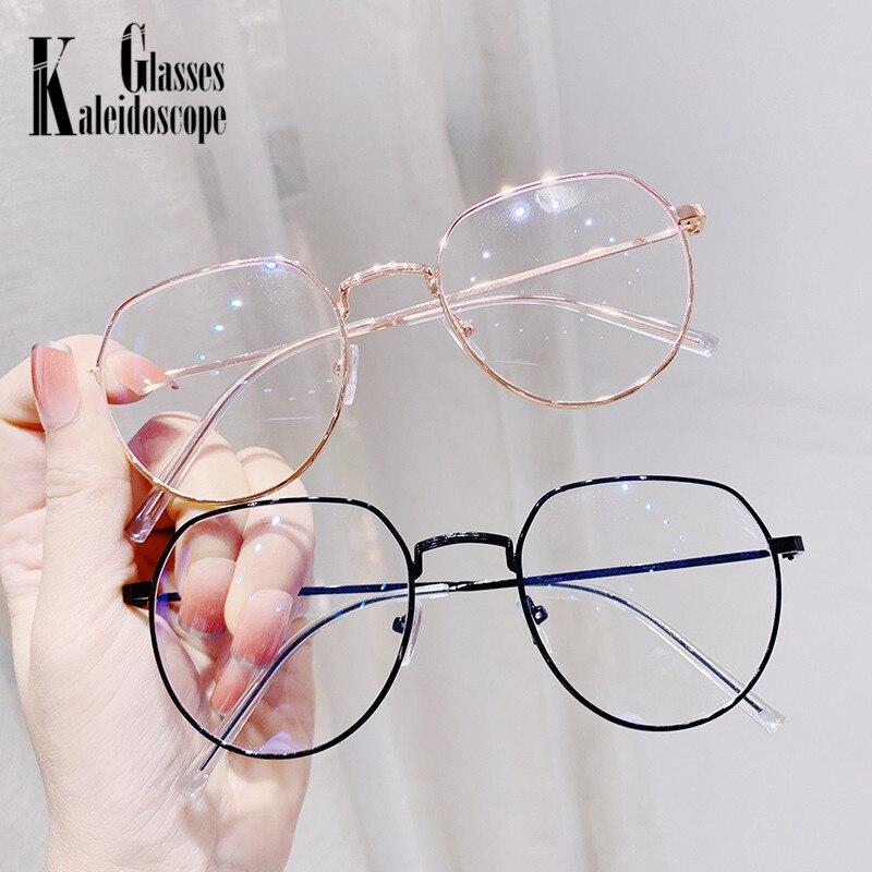 Anti-blue Light Irregular Glasses Frame Metal Eyeglasses Blocking Computer Phone Blue Light Eyewears Optical Spectacle Frames