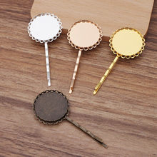 10pcs Hair Clip Hairpins 25mm Double Circle Bezel Tray Base Blanks Hairstyle Curly Wavy Grips Bobby Pin Styling Hair Accessories(China)