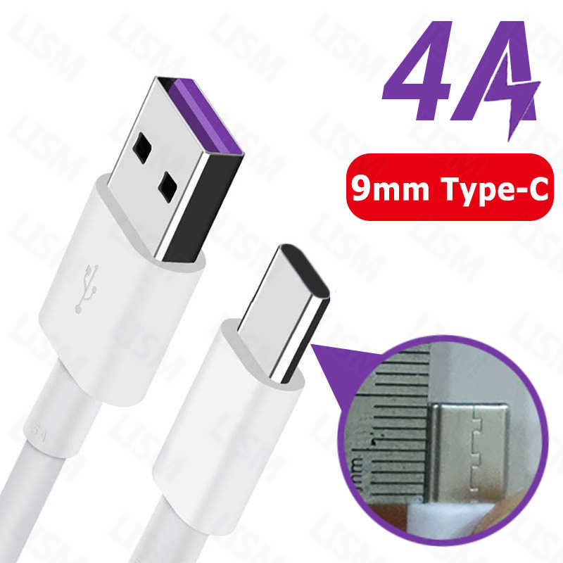 0.3 M/1 M/1.5 M/2 M 4A Snel Opladen 9mm Lange USB Type C charger Cable voor Blackview P10000 BV9700 BV9600 BV6800 Pro BV9500 Plus