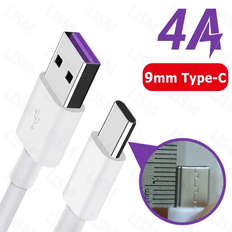 0.3M/1M/1.5M/2M 4A/3A Fast Charging 9mm Long USB Type C Charger Cable for Blackview BV9800 BV9700 BV9600 BV6800 Pro BV9500 Plus(China)