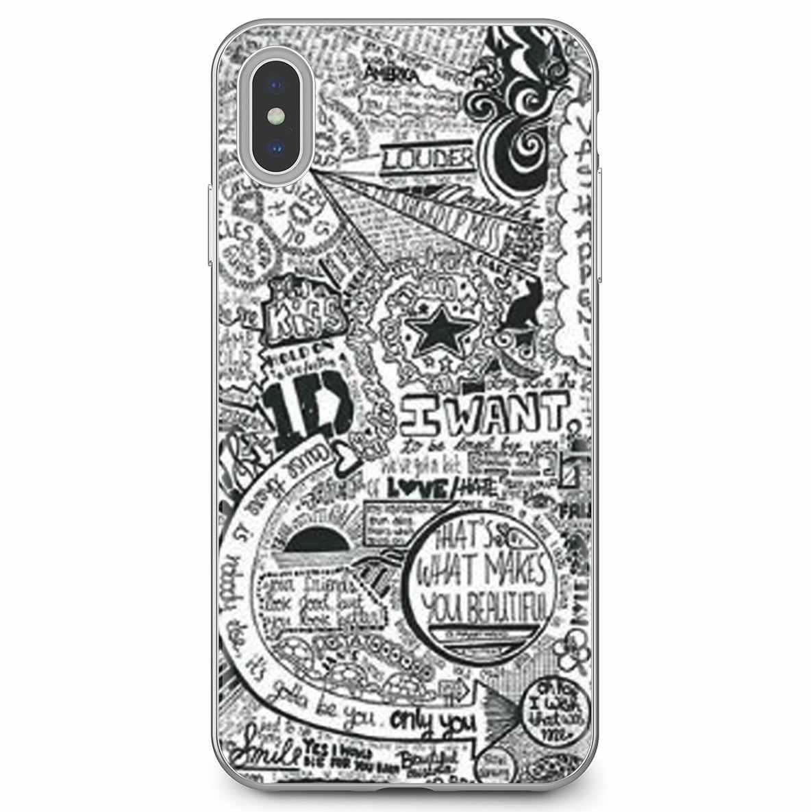 Für Huawei G7 G8 P7 P8 P9 P10 P20 P30 Lite Mini Pro P Smart 2017 2018 2019 Weiche Abdeckung EINE RICHTUNG 1D Niall horan-shirt-männer Harry Louis