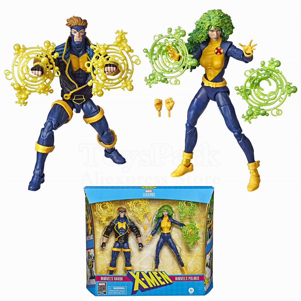 Marvel Legends 80th X-Men Havok & Polaris 2 Pack 6