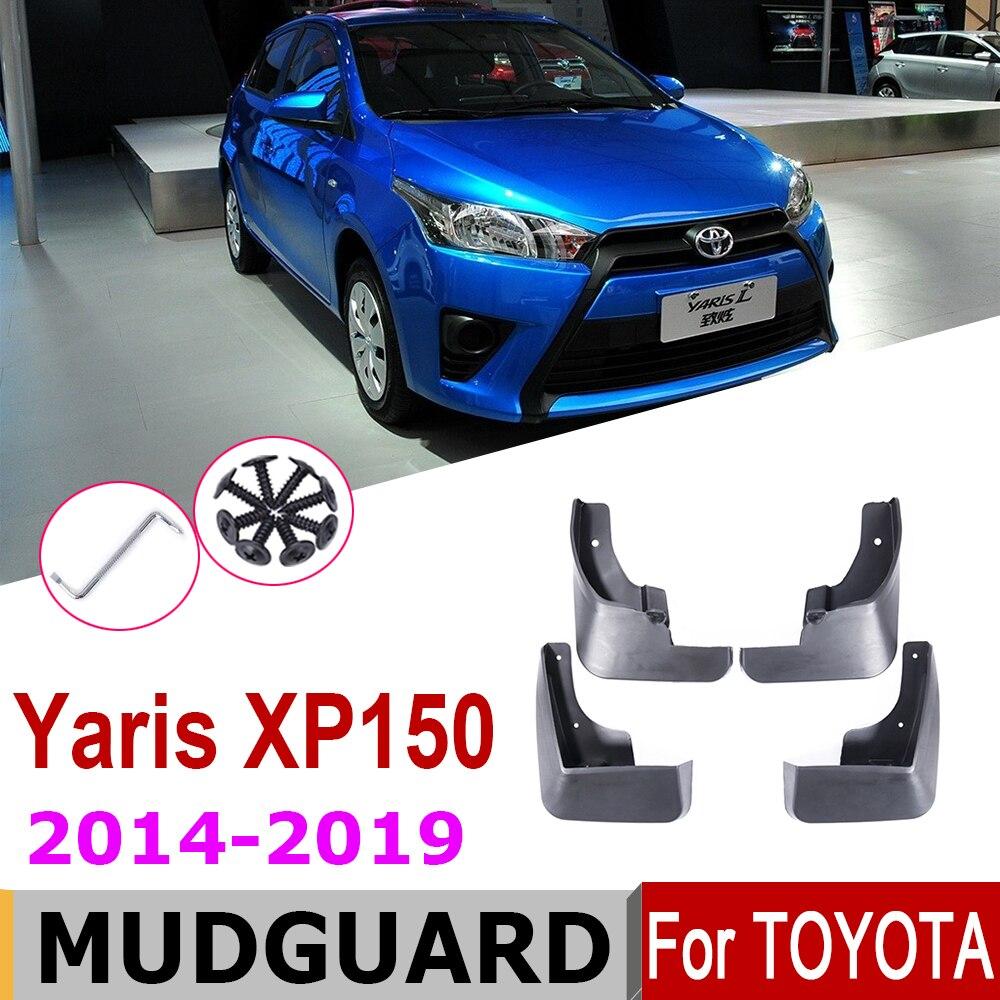 XP150 Mudflap Para Toyota Vios Yaris Hatchback 2019 ~ 2014 Flaps Respingo Guarda Lama Fender Paralama Acessórios 2018 2017 2016 2015