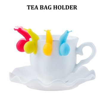 Cute Snail Wineglass Label For Tea Bag Hanging Mug Cup Clip Tea Infuser Party Supplies Novelty Product Color Random image