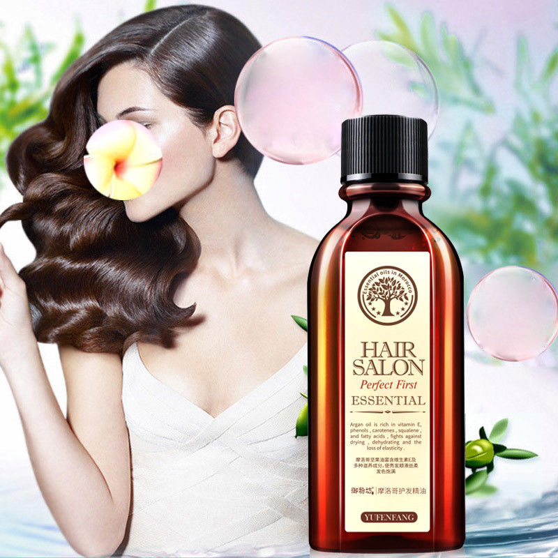 Hot 60ml Brand Multi-functional Hair & Scalp Treatments Hair Care Moroccan Pure Argan Oil Hair Essential Oil For Dry Hair Types