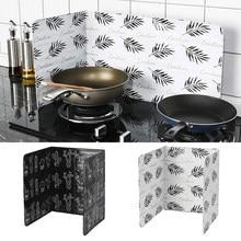 1 Pcs Startseite Aluminium Faltbare Küche Gasherd Prallplatte Pfanne Öl Splash Schutz Bildschirm Küche Herd Zubehör