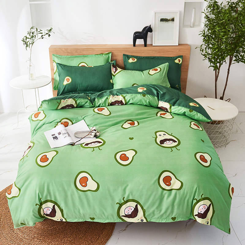 birthday present bedding set duvet cover+Bed sheet+Pillowcase Home textile decoration