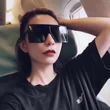 Oversized Shades Woman Sunglasses Black Fashion Square Glasses Big Frame Sunglasses Vintage Retro Glasses Unisex