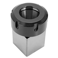 ER40 Square Collet Chuck Block Holder CNC Tool Hard Steel For Lathe Engraving Machine Hole Drilling