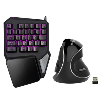 HOT-Delux T9 Pro Gaming keyboard Wired Professional Keyboard Single Hand Keypad Ergonomic Vertical Mouse Mice Computer Gaming Mo