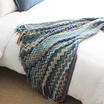 Drop Shipping Bohemia Throw Blanket 127*170cm Knitted Blanket Adult Blanket Spring/Autumn Sofa Blanket cobertor