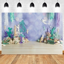Mermaid Backdrop Photography Birthday Party Child Family Shoot Banner Photo Studio Prop Background Newborn Baby Shower Photocall