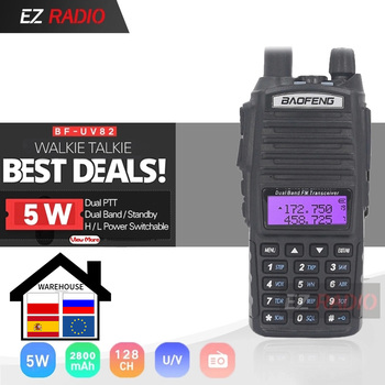 Original BaoFeng UV-82 Walkie Talkie 5W 128Ch Dual Band VHF UHF 136-174MHZ 400-520MHZ Portable Baofeng UV82 Ham Radio 82 - discount item  45% OFF Walkie Talkie