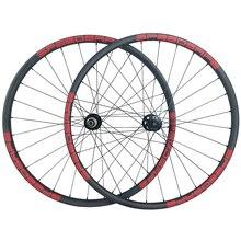 Ruedas traseras sin tubo para bicicleta de montaña MTB, accesorio de carbón de 28 mm, 1340g, asimétricas de 28mm, 15X100 15X110 12X142 12X148 11s XD 12s, 29er