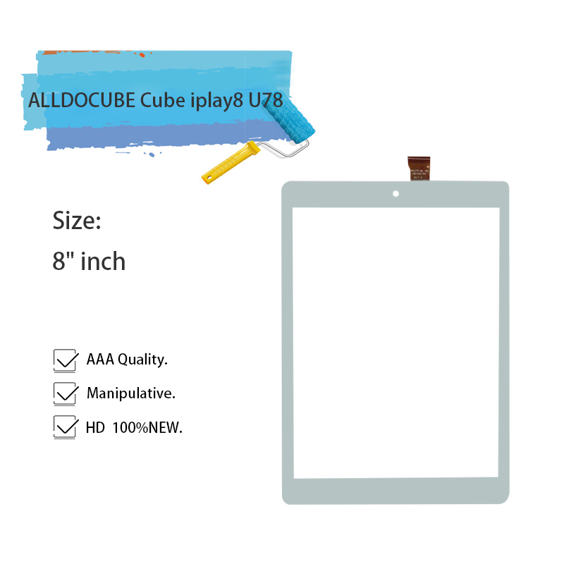 New 8 inch Touch Screen Panel Digitizer Glass For ALLDOCUBE Cube iplay8 U78