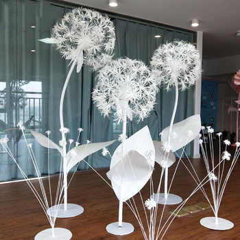 Large  DIY Artificial Paper Flowers Dandelion Fake Flowers Wedding Decoration Window Decoration Wedding Road Background Layout - DISCOUNT ITEM  13% OFF All Category