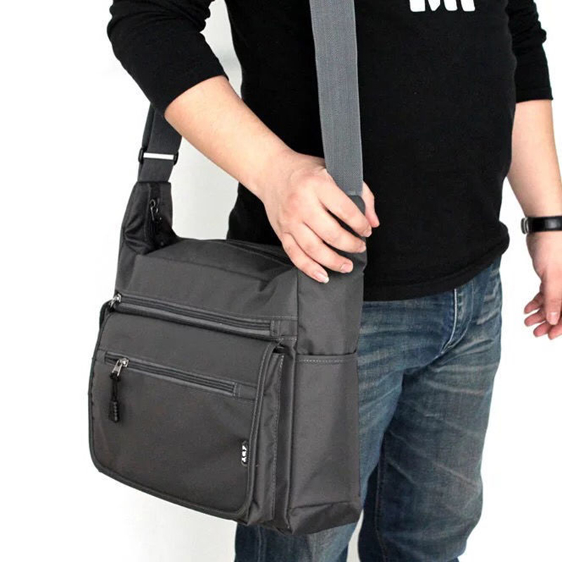 Men's Shoulder & Messenger Bag Oxford Cloth Material British Casual Style High Quality Design Multi-function Large Capacity