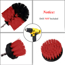 Power Scrubber Brush Set For Bathroom Drill Cleaning Cordless Attachment Kit Scrub Red
