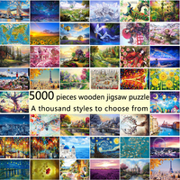 5000 pieces of wooden jigsaw and various patterns optional adult decompression children's educational toys gifts DIY decorative