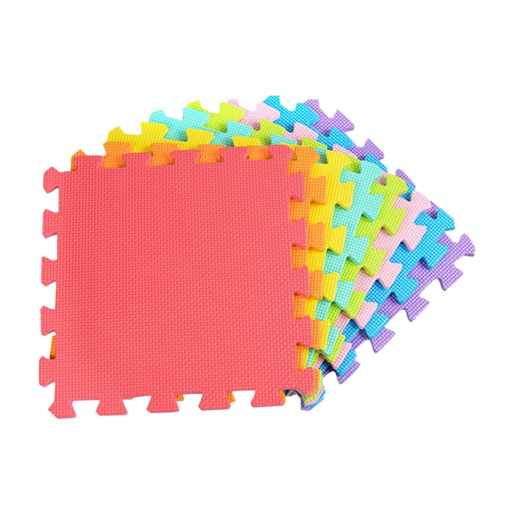 18 PCS Baby Kids Play Mat Multi Color Puzzle Excise Crawl Mat EVA Foam Floor Safe 18 PCS Baby Kids Play Mat Multi-Color Puzzle Excise Crawl Mat EVA Foam Floor Safe Playmat Childrens Puzzle Carpet Toys Gifts